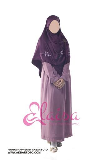 Baju Gamis Muslimah Untuk Pesta Elaisa 087870486608